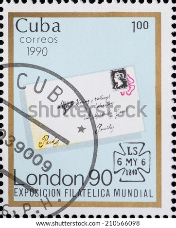 "USSR - CIRCA 1976: A stamp  printed the Russian car ""ZIS-150"", circa 1976 - stock photo"