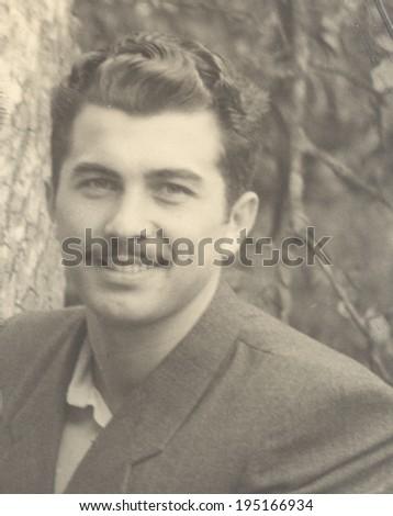 USSR - CIRCA 1964: vintage photo of a beautiful man, circa 1964 - stock photo