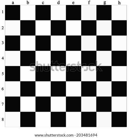 usual black and white chess-board - stock photo