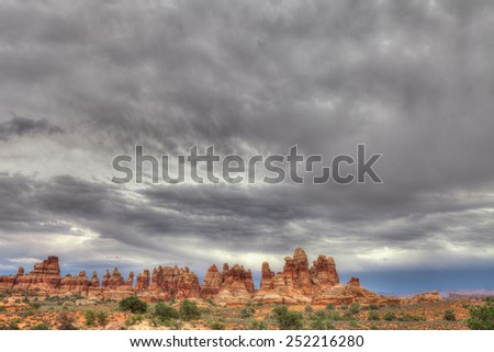 UT-Canyonlands National Park-Maze District-Dollhouse area - stock photo