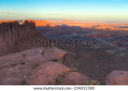 Utah-Canyonlands National Park-Maze District-Dollhouse area - stock photo