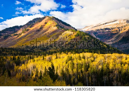 Utah Mountain in the Fall - stock photo