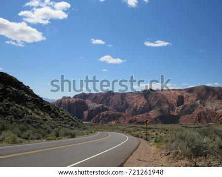 Utah National Park Mountain View Background