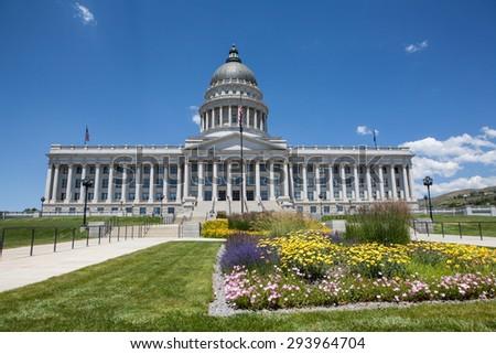 Utah State Capitol Building, Salt Lake City - stock photo