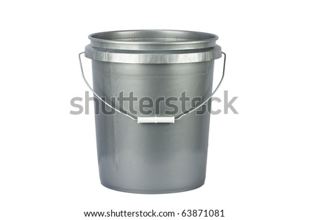 utility bucket isolated on a white - stock photo