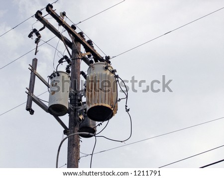 utility pole and cables