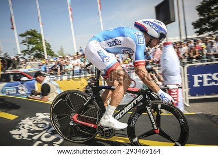 Utrecht, The Netherlands. 4th of July, 2015. Tour de France Time Trial Stage, ALEXANDRE GENIEZ, Team FDJ
