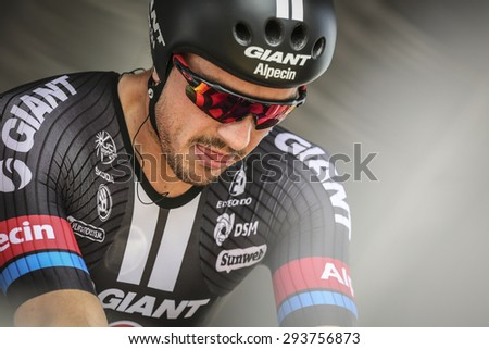 Utrecht, The Netherlands. 4th of July, 2015. Tour de France Time Trial Stage, JOHN DEGENKOLB, Team Giant Alpecin