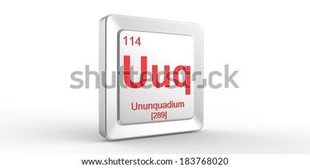 uuq symbol 114 material for ununquadium chemical element of the periodic table - Periodic Table Symbol Ununquadium