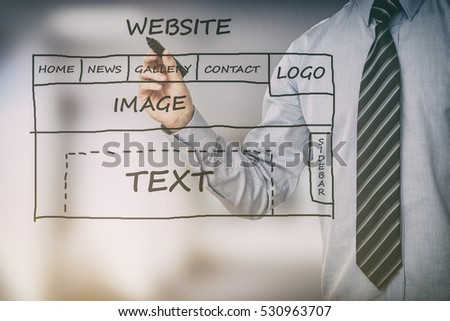 ux design app designer business web work hands geek layout casual mobile concept - stock image