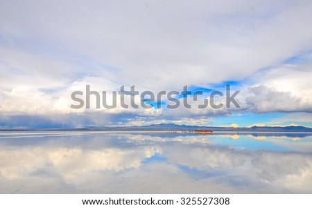 Uyuni Solt Lake - stock photo