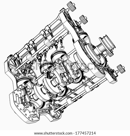 1941 ford pickup wiring diagram with V8 Motor Section on V8 Motor Section further Cg cat1 switches turn signal further 3930 Ford Tractor Steering Cylinder also World Map North South America besides How Does A Car Horn Work Diagram.