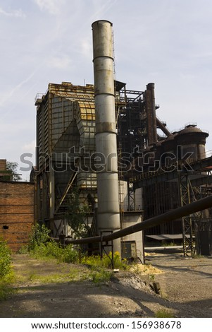 V�­tkovice Iron and Steel Works Blast furnaces and structures ,Ostrava,Czech Republic. It is Industrial Heritage Site and unique example of industrial architecture from the 1st half of 19th century