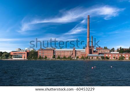 Vaasa University in old factory building - stock photo
