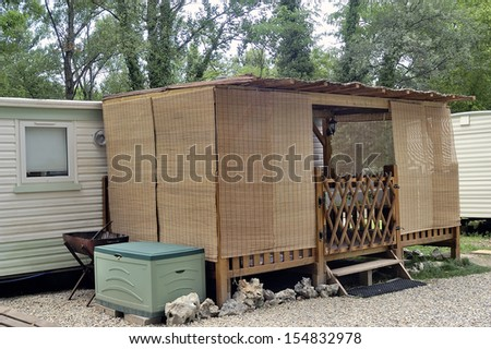 Vacancies with the camp-site - stock photo