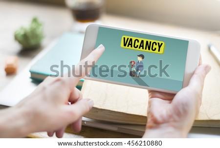 Vacancy Career Recruitment Available Job Work Concept - stock photo