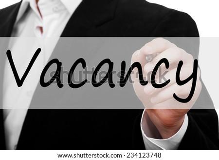 Vacancy concept  - stock photo