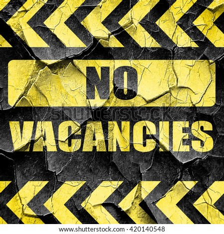 Vacancy sign for motel, black and yellow rough hazard stripes - stock photo