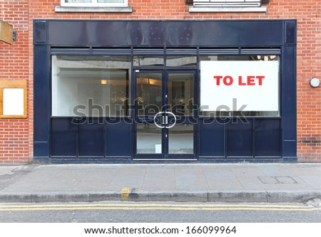 Vacant retail shop to let in London - stock photo