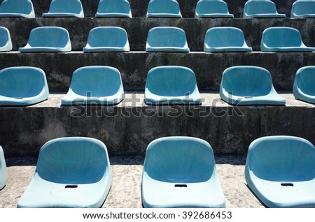 Vacant seats at stadium