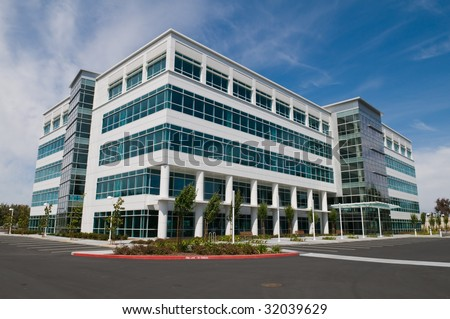 Vacant Silicon Valley office building, Sunnyvale, California - stock photo
