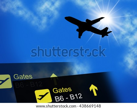 Vacation Abroad Representing Worldwide Break And Airline - stock photo
