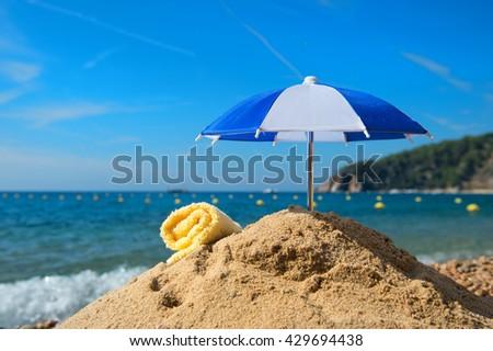 Vacation at the summer beach - stock photo