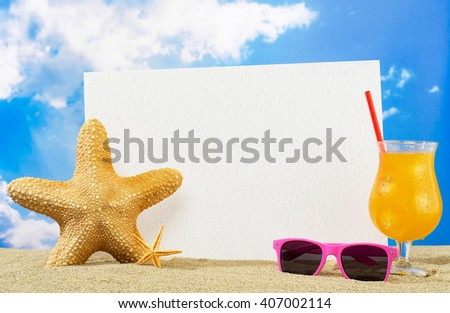 Vacation banner - stock photo