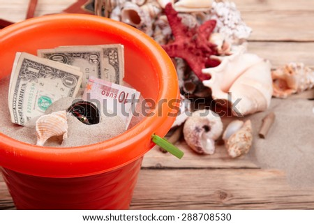 vacation concept money - stock photo