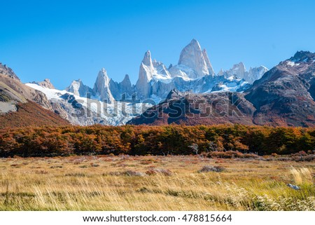 Vacation in South Patagonia, Mt. Fitz Roy with Autumn Climate in