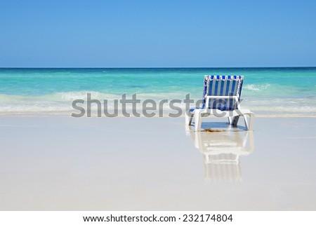 Vacation on a beach - stock photo