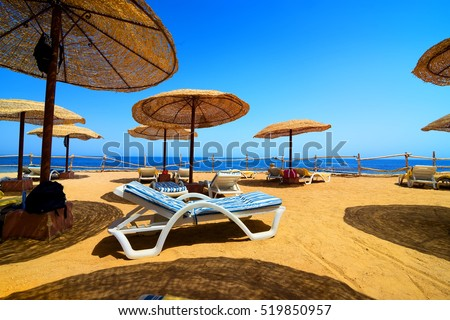 Vacation on the beach of Red sea in Egypt