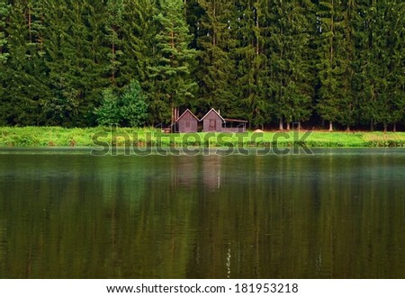 Vacation or holiday place, nature background.