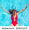 Vacation Pool Swimming - stock photo