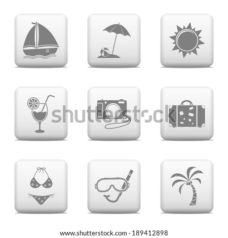 Vacation signs - web buttons