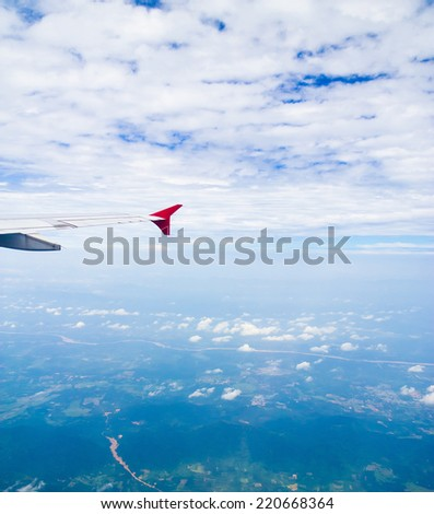 Vacation Starts Wing over Lands  - stock photo