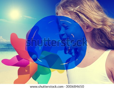 Vacation Summer Holidays Blue Marker COncept - stock photo