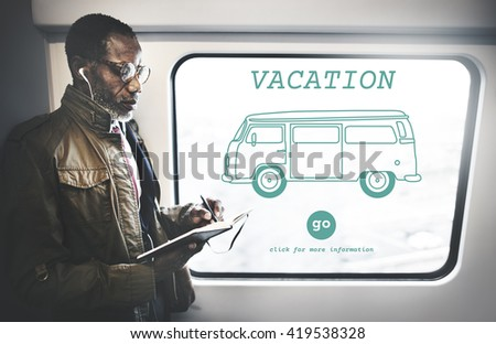 Vacation Traveling Adventure Journey Destination Van Concept