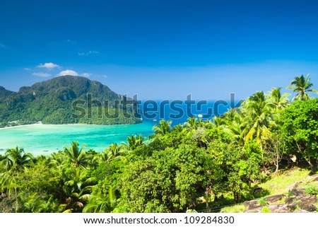Vacation Wallpaper Exotic Backdrop - stock photo