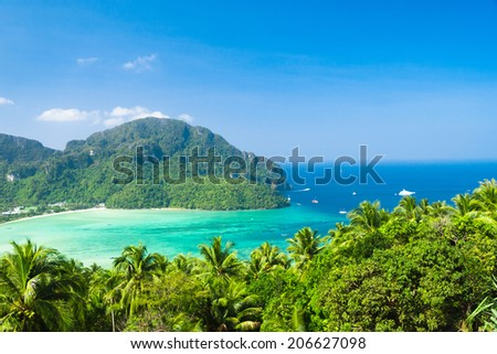 Vacation Wallpaper Exotic Backdrop  - stock photo