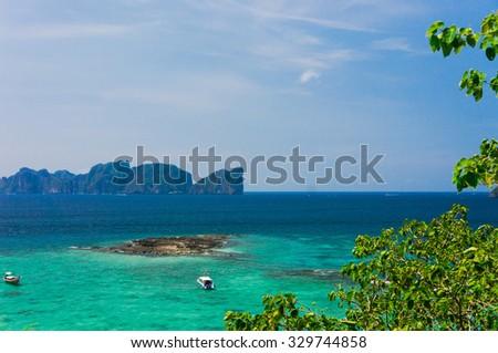 Vacation Wallpaper Idyllic Panorama  - stock photo