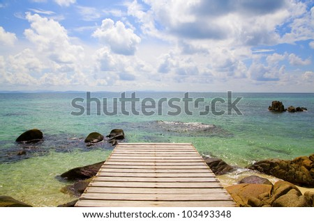 Vacations And Tourism Concept. Tropic Paradise. - stock photo