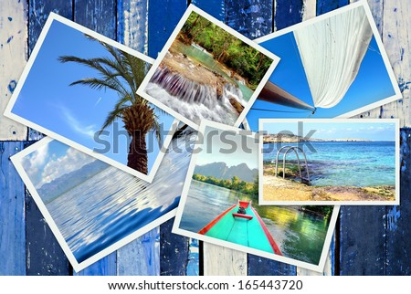 Vacations images from tropical destinations  - stock photo