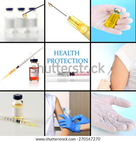 Vaccination collage - stock photo