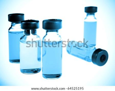 Vaccine vials - stock photo