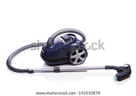 Vacuum cleaner isolated on the white - stock photo