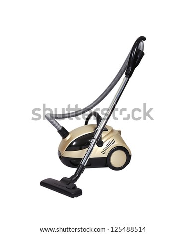 vacuum cleaner on a white background - stock photo