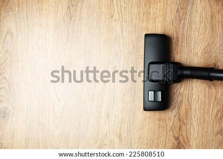 Vacuum cleaner parquet - stock photo