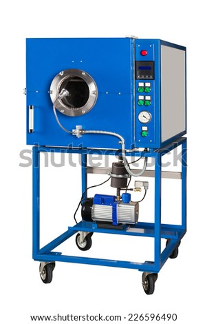 vacuum oven on a white background - stock photo