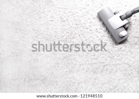vacuuming - stock photo